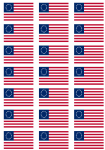 Betsy Ross Flag Stickers - 21 per sheet